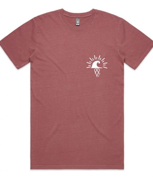 Faded Chimes Adult Short Sleeve Tee Faded Wine Front