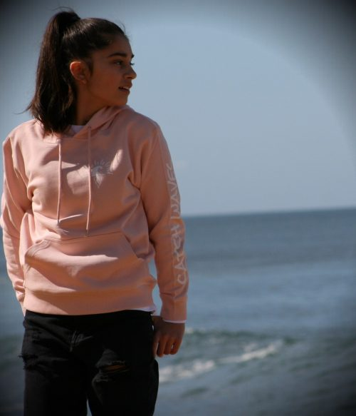 Pale Pink Scotch Hoodie Catch Waves Front 2