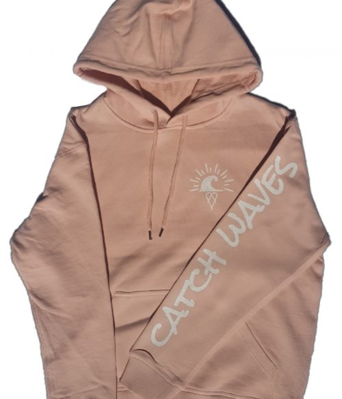Pale Pink Scotch Hoodie Catch Waves Front