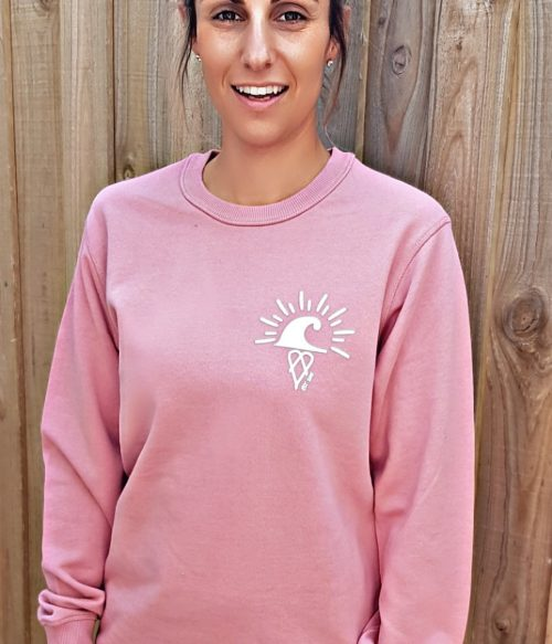 Rose The Crew Hoodie Catch Waves Front2