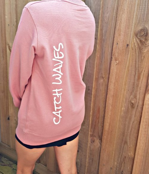 Rose The Crew Hoodie Catch Waves Side