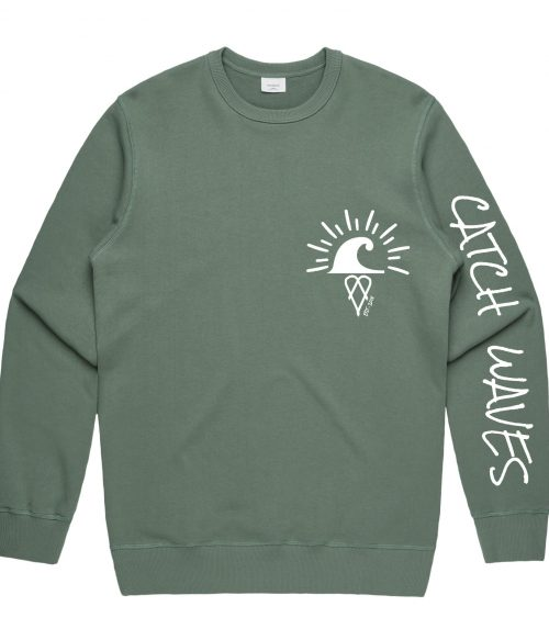 Sage The Crew Hoodie Catch Waves Front 2